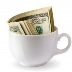 dollars-in-coffee-cup