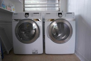 Washer and dryer in utility room
