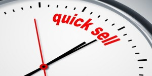 Clock counting down to time of sale